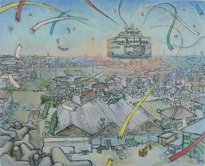 hiro_sakaguchi-Wind_Flower_and Farewell-seraphin_gallery-the_yard_center_city-coworking_philadelphia
