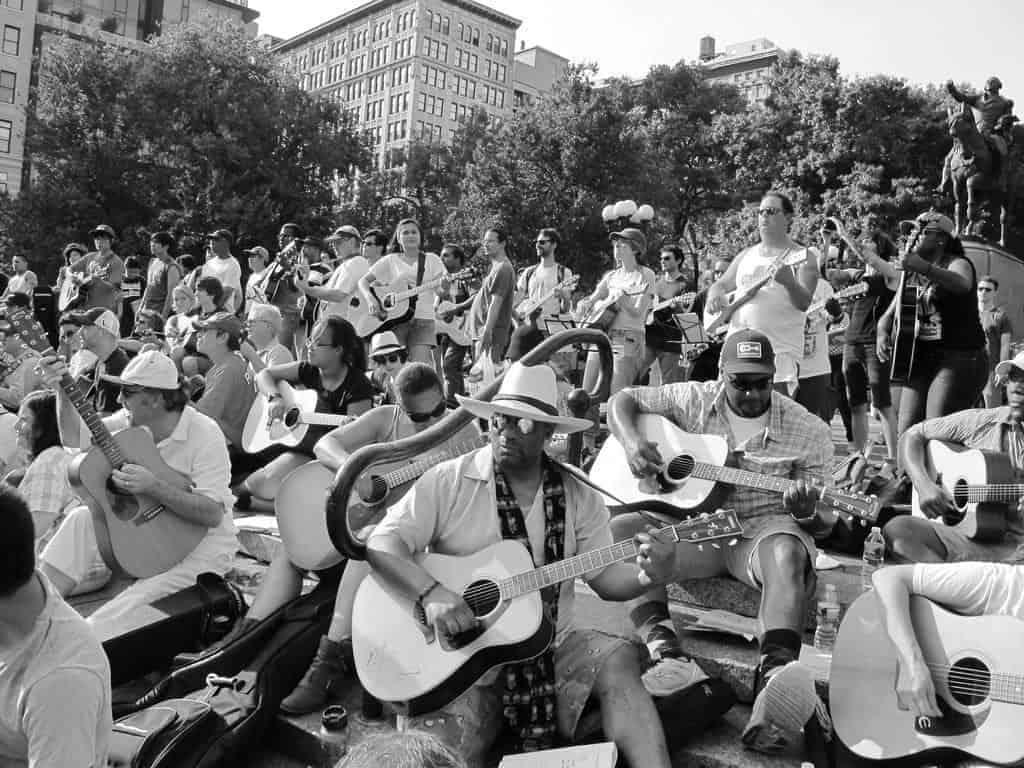 musicians outside at Make Music NY