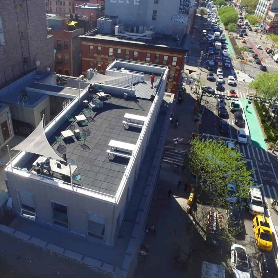 Aerial view of The Rooftop at The Yard LES