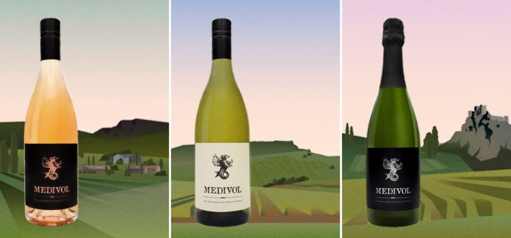 Illustrations for a wine brand by Lumens